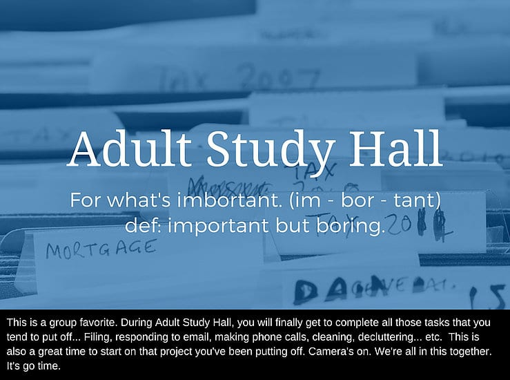 ADHD reWired - Adult Study Hall