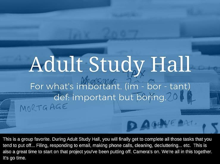 ADHD reWired - Adult Study Hall