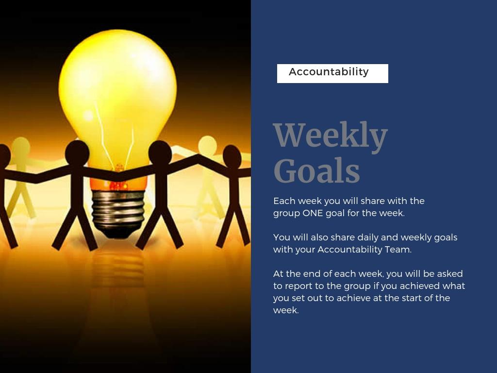 Weekly goals undated
