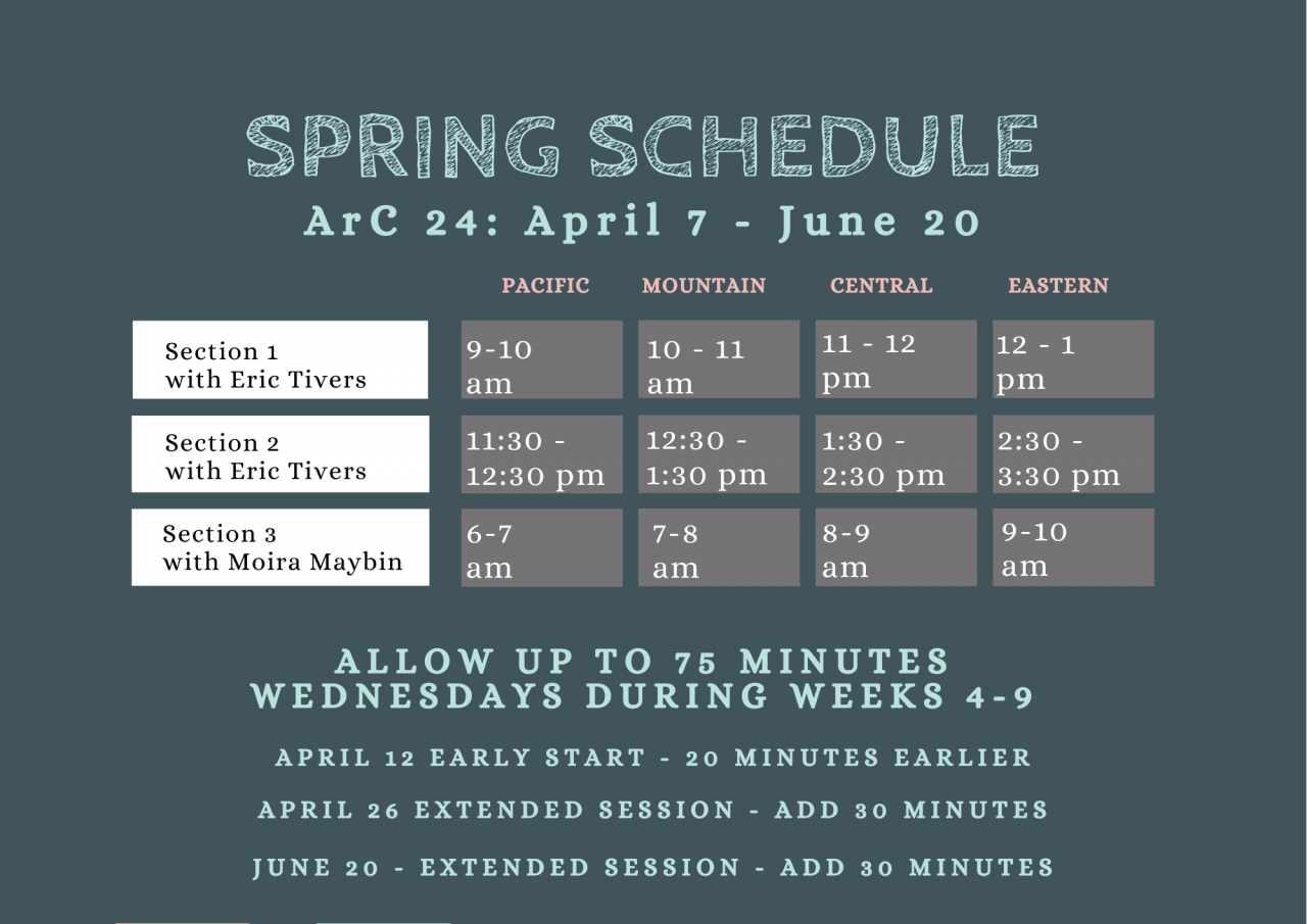 ADHD reWIred Spring 2021 Coaching Group Schedule